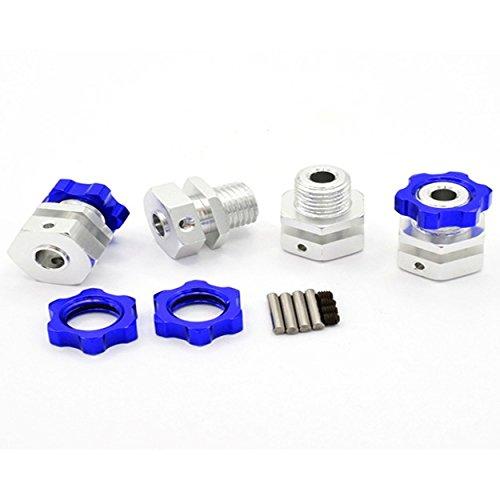 Hot Racing TM3310W 17mm Hub Wide Offset Adapter Blue(4) Wide Tire Set