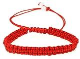 Red String Bracelet, Kabbalah Bracelet, Woven Braided Adjustable Bracelet - Men Women- st008
