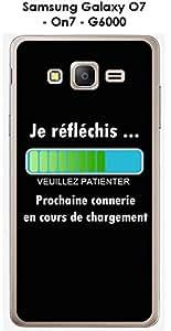 Carcasa Samsung Galaxy O7-On7-G6000Design Message je réfléchis, texto blanco