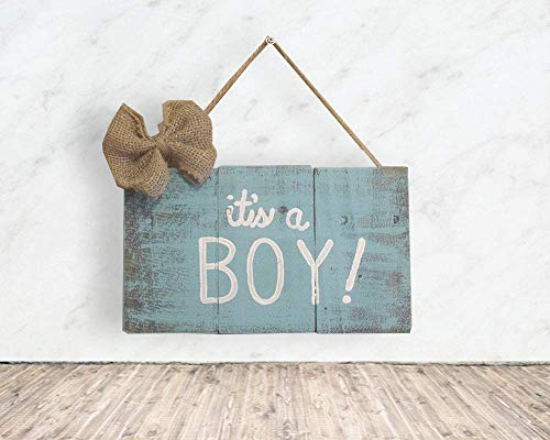 It's A Boy Sign For Maternity Shoot – It's a Boy Decoration – It's a Boy Sign Wooden, F4 Review