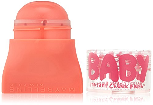Maybelline New York Baby Skin Instant Cheek Flush Blush, Pop of Peach, 0.16 - Cheeks Gel Blush Sheer