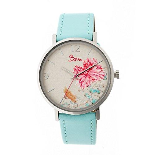 Boum Mademoiselle Quartz Powder Blue Polyurethane Silver Women's Watch (Women Watches Boum)