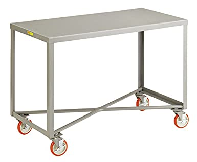Little Giant IP 2460RM BRK Welded Steel Mobile Table, 1000 Lb. Capacity