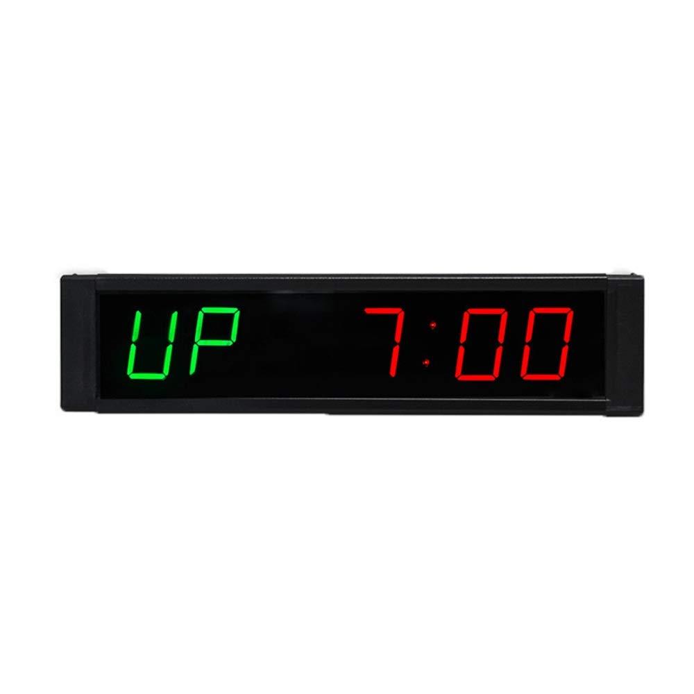 スポーツタイマー デ カウントダウンクロック 屋内スポーツメーター1インチデジタルリアルタイムクロック多機能病院タイマーリモコン付き大型壁掛けオフィスカウントダウンは教室オフィス病院ホームジムに非常に適しています 大型デジタルカウントダウン時計 (色 : ブラック, サイズ : 21.5X5.5X2.5CM) ブラック 21.5X5.5X2.5CM