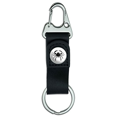 Carabiner Leather Keychain Astrology Astrological