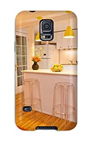 Hot Tpu Cover Case For Galaxy/ S5 Case Cover Skin - Breakfast Bar With Bar Stool Seating And Pendant Lights by lolosakes