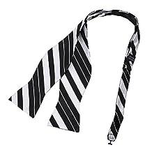 DBA7A25D White Black Stripes Bow Tie Microfiber Father Presents Hand-model Bow Tie By Dan Smith