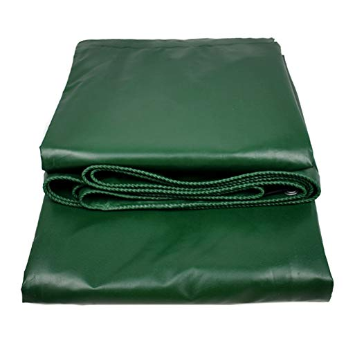 Heavy Duty Tarpaulin High Density Woven PVC and Double Laminated 500g/m² Green Waterproof and UV Protected (Size : 2×3m) by Tarps