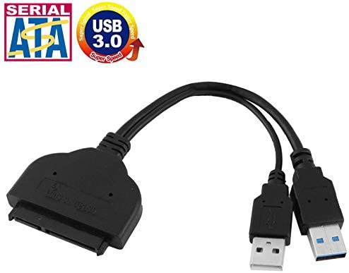 Length SHUHAN Computer Cables /& Connectors USB 3.0 to SATA 22 Pin 2.5 inch HDD Adapter with USB Power Cable 20cm Networking Accessory
