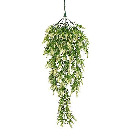 Povkeever DIY Artificial Wall Hanging Fake Flower Vine Wedding Living Room Plant Bunch Decor -