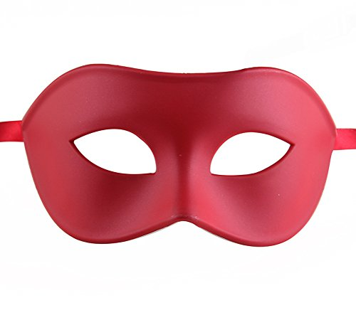 Luxury Mask Men's Venetian Party Masquerade Mask, Red,