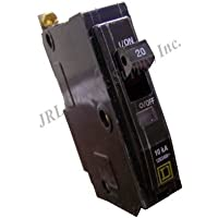 Square D Bolt-On Circuit Breaker, 20 Amp, QOB120 by Square D
