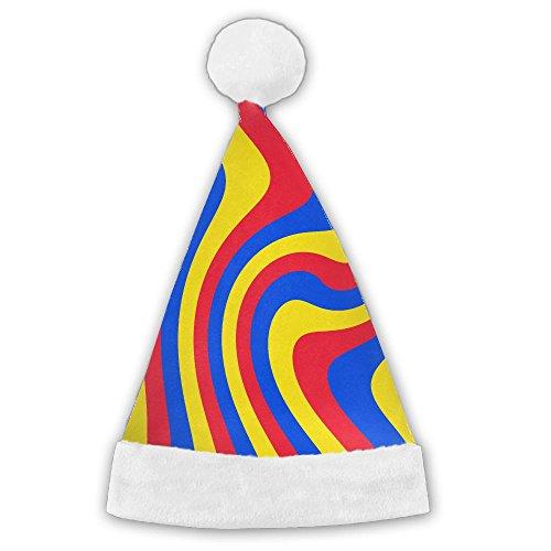 Originalidad bandera de Rumanía Full Longitud Completa de terciopelo de poliéster impresión gorro de Navidad, gorro de...