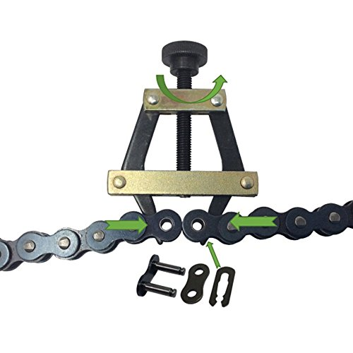 (Aobbmok #25#35#41#40#50#60 415H,428H, 520,530 Roller Chain Connecting Puller Holder for Motorcycle Bicycle Go Kart ATV Chains Replacement)