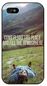 Come and flood this the place them and fill the atmosphere - Mountains - Bible verse iPhone 5 / 5s black rare plastic case / Christian Verses &hong hong customize