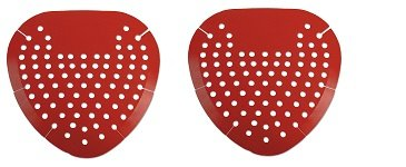 Boardwalk 1001 Urinal Screen, Cherry Fragrance, Red (Box of 12) (2-Pack)