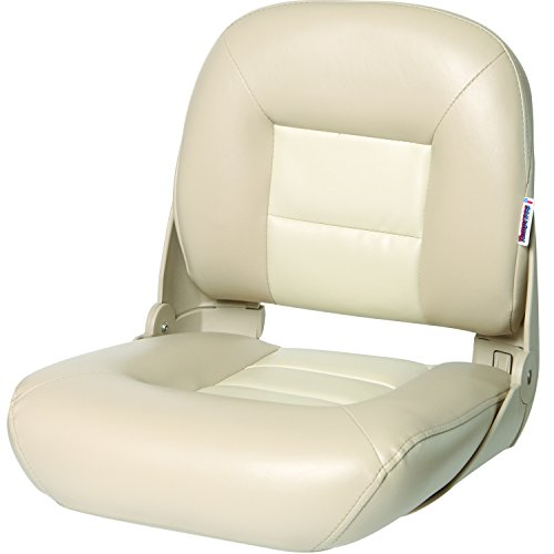 Back Boat Vinyl Seat (Tempress NaviStyle Low Back Seat, Tan/Sand)