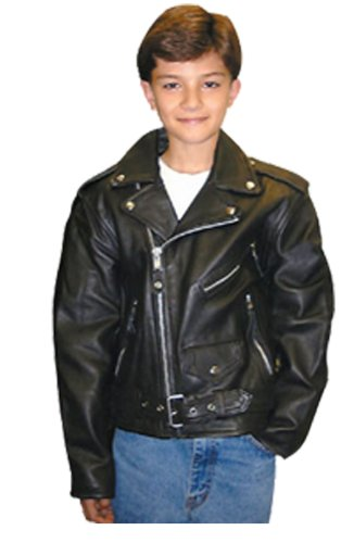 Amazon.com: Childrens Police Style Motorcycle Jacket - LeatherBull ...