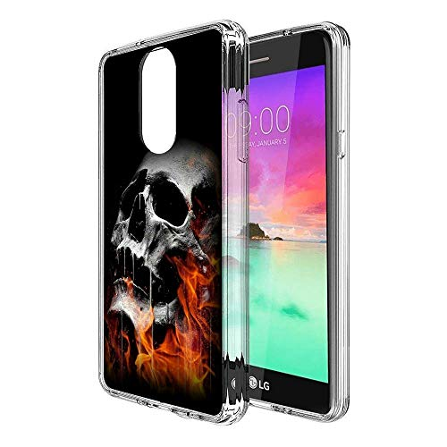 - Burning Skull LG Stylo 4 Clear Case,Ultra-Thin Transparent Soft Protection Cover,Personal Customization Hybrid Drop Flexible Shockproof Case