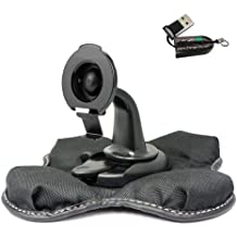 ChargerCity NonSlip Beanbag Dashboard Friction Mount for Garmin Nuvi 2557 2558 2559 2589 2597 2598 2599 2689 2699 52 54 55 56 57 58 65 66 67 68 DriveSmart Drive 50 51 60 61 LM LMT LMTHD GPS