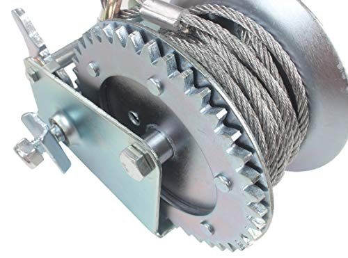 AC-DK 1600 lb - 3500 lb Hand Gear Winch Come with Two Crank Handles! - Manual Operating with Strap & Cable for Boats and Trailers(1600 lb with Cable). by AC-DK (Image #2)