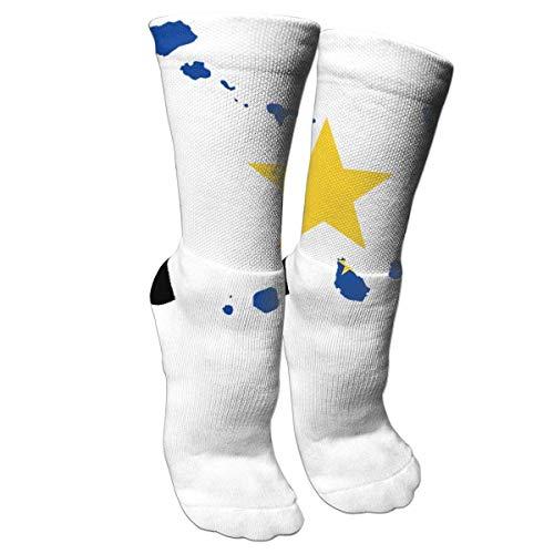 Cape Verde Continent Star Flag Socks Crew Sock Crazy Socks Long Tube Socks Novelty Fun for Women Teens Girls (Cape Socken)