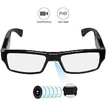 YAOAWE HD 1080P Polarized Sunglasses with Mini Hidden Camera, Video Record+Loop Recording