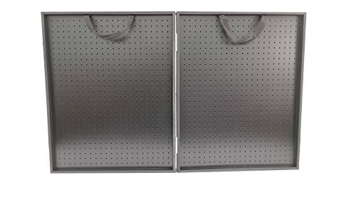 Playwin 30 x 24 x 3 3 4 All Black Thick Folding Pegboard Display Suitcase