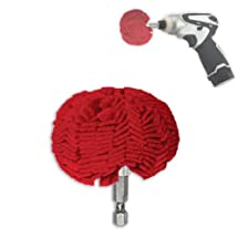 "3"" Pro Buffing Ball - Hex Shank - Turn Power Drill into High-Speed Polisher"