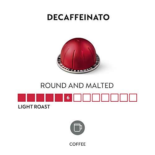 Nespresso Capsules VertuoLine, Decaffeinato, Mild Roast Coffee, 30 Count Coffee Pods, Brews 7.8 Ounce
