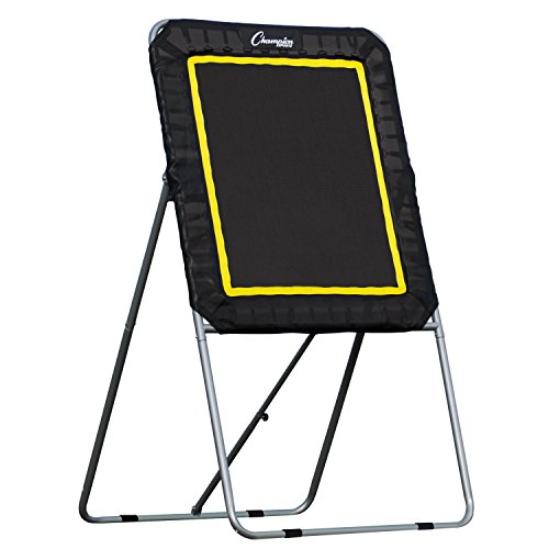Champion Sports Deluxe Lacrosse Target: Ball Return Bounce Back Net Set for Professional, College and Grade School Training, and Drills - Practice Offense, Passing Skills, and Shooting Accuracy Bounce Back Training