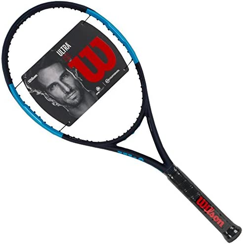 Wilson Ultra 110 Blue/Black Oversized and Extended Tennis Racquet ...