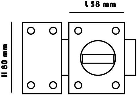 Carmine Verrou de surete a bouton Cylindre 45 mm pour porte entree gache reversible gauche droite