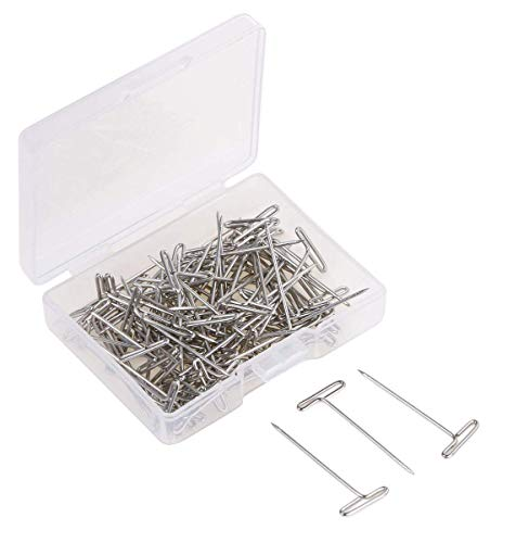 Tupalizy 120PCS 1 inch Nickel Plated Steel T-Pins