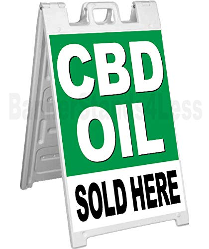 CBD Oil Sold HERE Signicade A-Frame Sidewalk Sign Pavement Sign gb