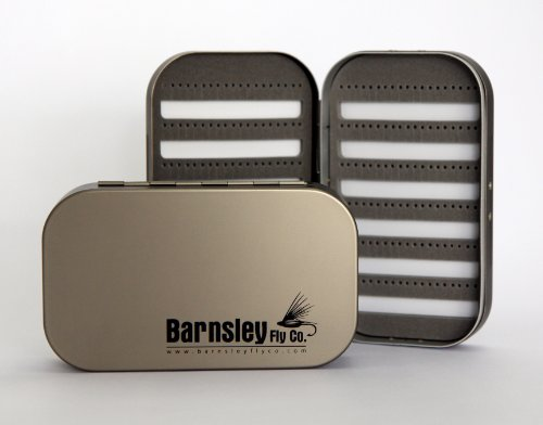 Barnsley Aluminum Slotted Foam Fly Box – Gunmetal