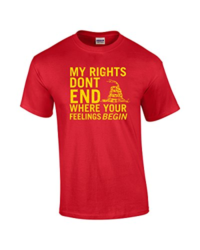 Rights Don't End Where Feelings Begin 2Nd Amendment Adult ()