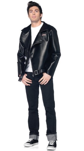 [Leg Avenue Grease Men's Fax Leather T-Birds Jacket, Black, X-Large] (T-birds Costume Jacket)