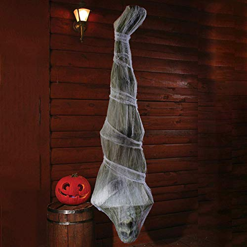 fgdsahSQ Halloween Cocoon Corpse Decoration 1.8m Scary Mummy Ornament Party Haunted House Tricky Hanging Props fgdsahSQ Green White]()