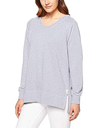 Elm Women's Fundamental Sydney Crew, Grey Marle, 10