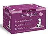 Forthglade 100% Natural Grain Free Complementary Dog Pet Food Just 90% Meat