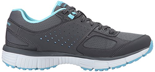 Skechers Sport Donna Ramp Up Fashion Sneaker Charcoal / Turchese
