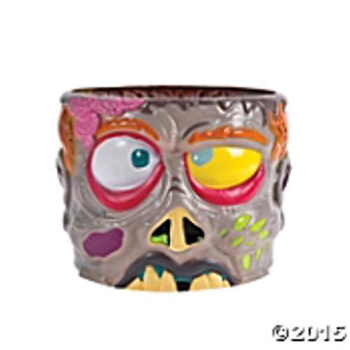 LARGE ZOMBIE PLASTIC PUNCH BOWL 9