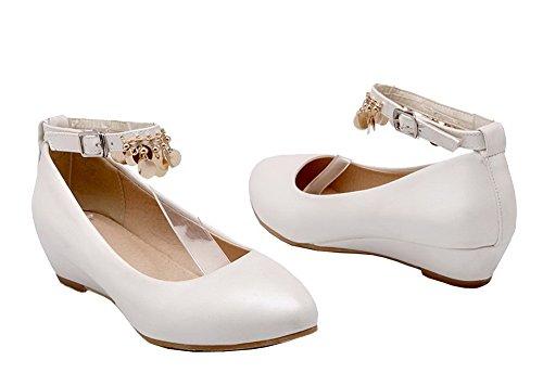 Flats Donna Blanc Puro Punta Luccichio Ballet Tonda Fibbia Shoes EuD80 AgeeMi C8pqwB5