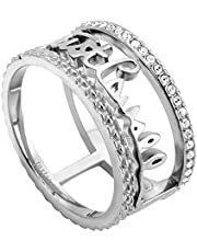 Just Cavalli Women's Stainless Steel Cerchi Ring