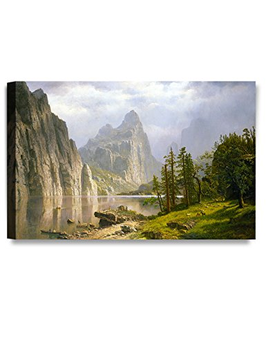 DECORARTS Merced River, Yosemite Valley, Albert Bierstadt Classic Art Reproductions. Giclee Prints Wall Art for Home Decor 30x20 x (Bierstadt Canvas Painting)