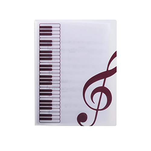 Plastic Music Themed Document Storage Notebook A4 Size 40...