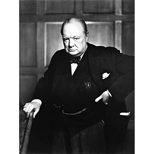 VINTAGE PHOTOGRAPHY PORTRAIT WINSTON CHURCHILL BRITAIN PRIME MINISTER 18X24'' POSTER ART PRINT LV11435 by - Picture Winston Churchill
