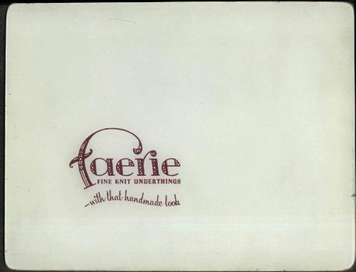 (Faerie Fine Knit Underthings countertop panel 1950s )