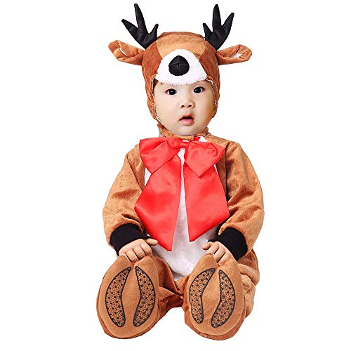 Reindeer Baby Costume (Hug Me Toddler Baby Infant Reindeer Christmas Dress up Outfit)